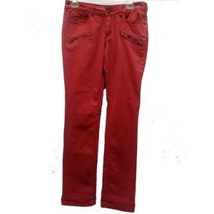 Pilcro and the Letterpress Red Skinny Jeans 27